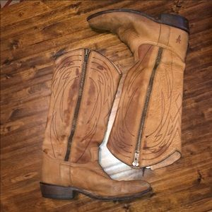 Frye Western style tall boots